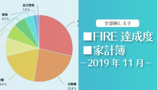 【ミニマルライフの効果アリ】ひこすけのFIRE達成度・家計簿をブログ公開【2019年11月】【セミリタイア】