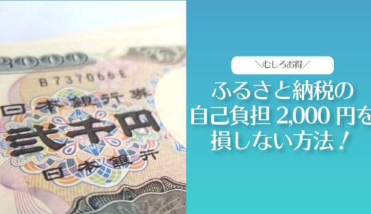 【知ってた?】ふるさと納税の自己負担2000円を損しない方法とは?【ブログで解説】