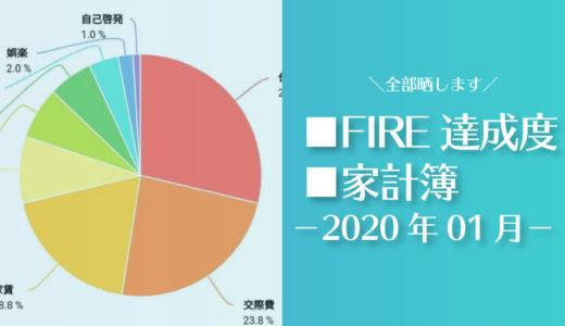 【痛い出費が…】ひこすけのFIRE達成度・家計簿をブログ公開【2020年01月】【セミリタイア】
