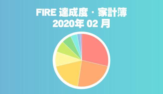【娯楽費が辛い?】ひこすけのFIRE達成度・家計簿をブログ公開【2020年02月】【セミリタイア】