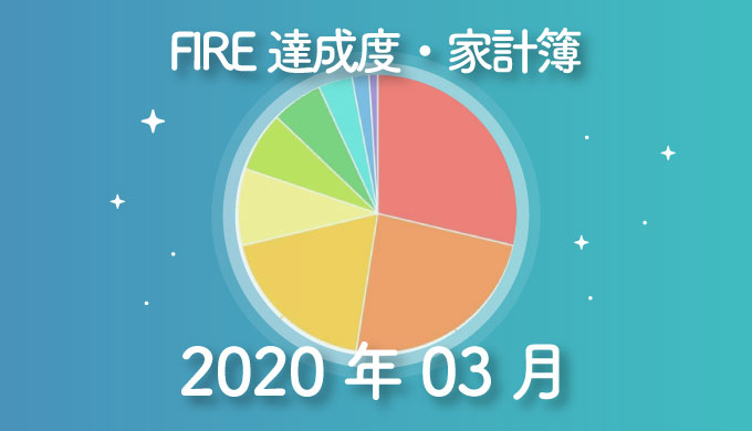 【ブログ収入が増加】ひこすけのFIRE達成度・家計簿をブログ公開【2020年03月】