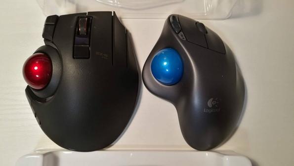トラックボールマウス ボタン 割当